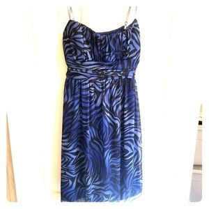 Ruby Rox Black and Blue Dress